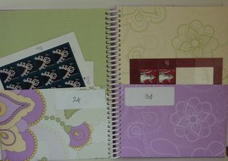 Postage book pages 2-3