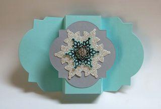Snowflake Fancy Fold - open