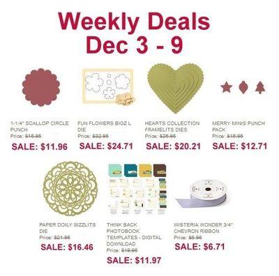 Weekly Deals - Dec 3