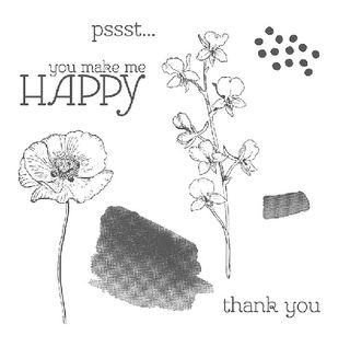Happy Watercolor stamp set